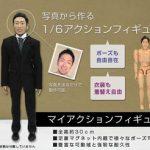 『マイアクションフィギュア(1/6スケール)』は写真から作るあなたの顔のアクションフィギュアです。